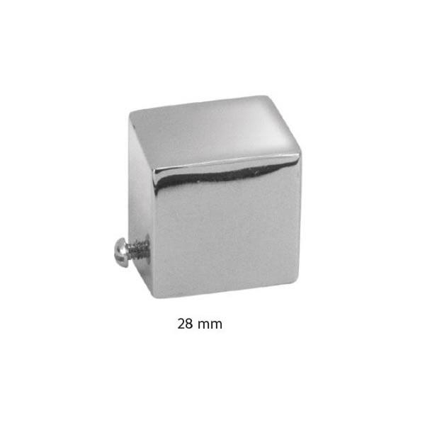 Ponteira para Varão de Cortina Tampão Quadrada 28mm