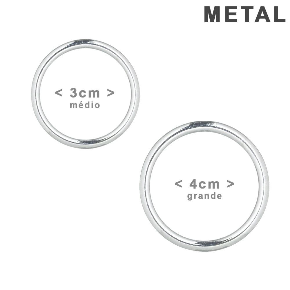 Argolas de Metal para Cortina - Cromado