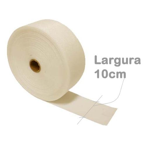 Entretela para cortina plastificada larg. 10cm - rolo 50m