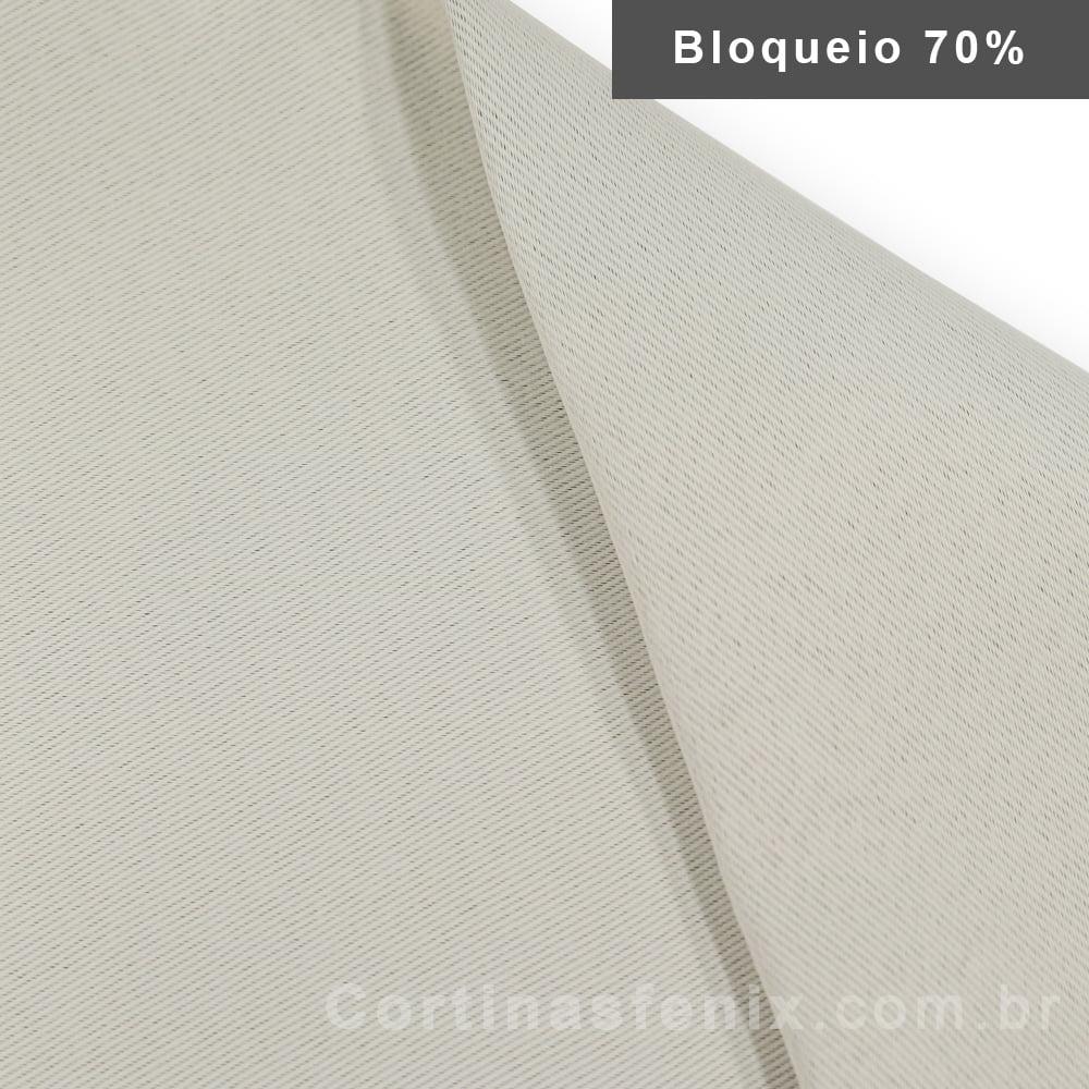Corta luz de tecido Liso 100% Poliester Bege 2,80m de largura
