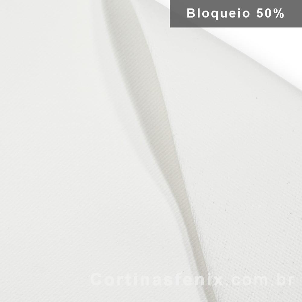 Corta luz de tecido Liso 100% Poliester Branco Neve 2,80m de largura