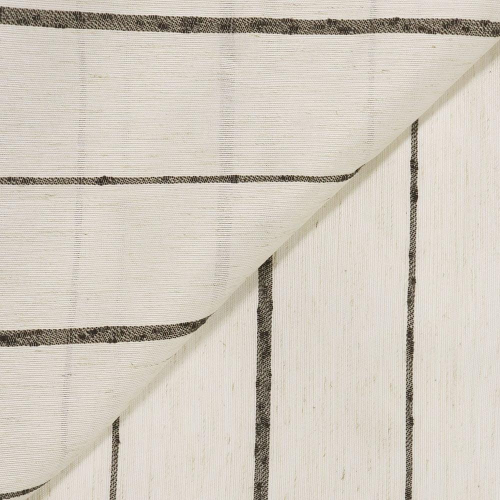 Tecido Linho Boucle Listrado Marrom Largura 3,00m