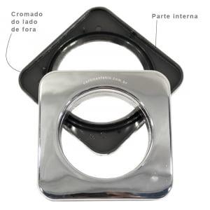 Ilhós para cortina 28mm - Cromado