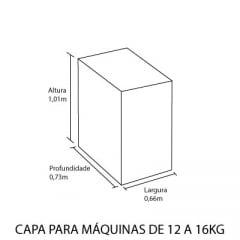 Capa para máquina de lavar roupas de abertura superior