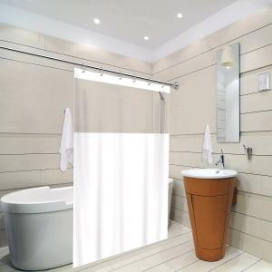 Cortina Para Box de Banheiro Maxeb L: 1,38 x A: 1,98m - Lisa