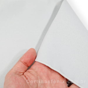 Corta luz de tecido Liso 100% Poliester Branco Gelo 2,80m de largura