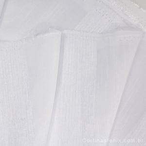Tecido Tafetá Flame Listrado Especial Branco Largura 2,80m