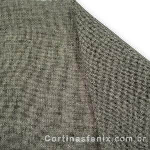 Tecido Linho Rústico Cinza Musgo Largura 2,80m